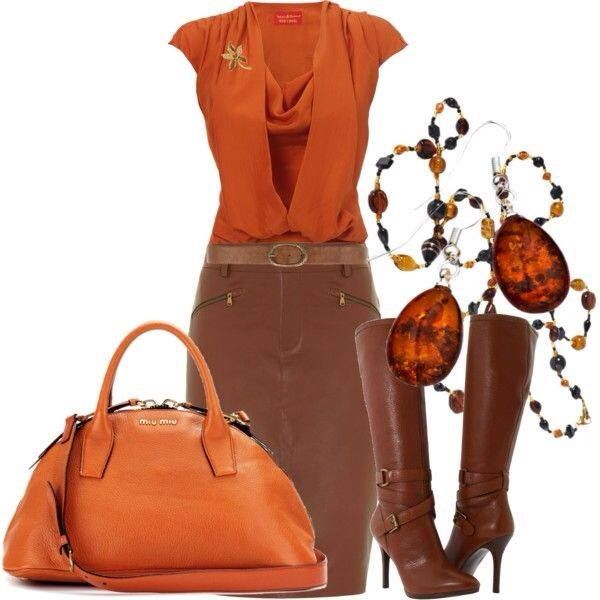 Orange & brown