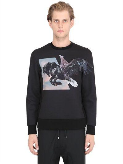 Newest For Sale Collections Online Crewneck GEOMETRIC Sweatshirt Spring/summer Neil Barrett cf3GqoIWaX