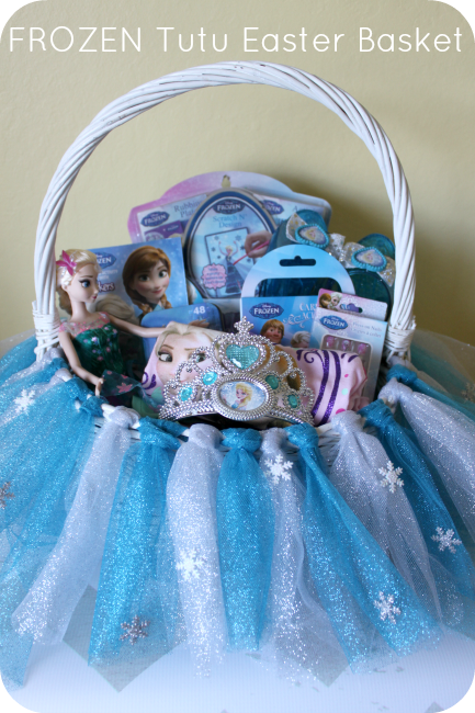 Diy frozen tutu easter basket tutorial easter baskets tutu and diy frozen tutu easter basket tutorial disneyeaster negle Images