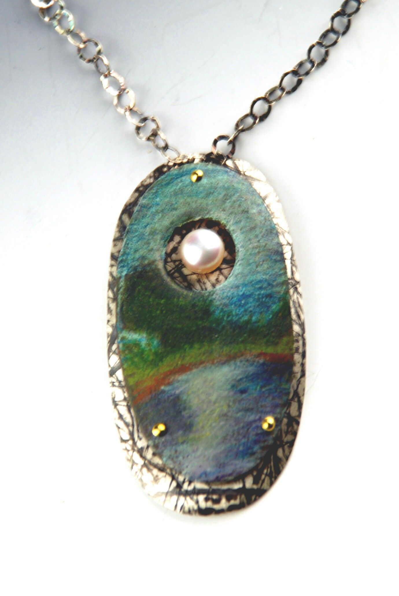 """Colored pencil on copper """"Moonrise"""" Mary Karg Designs ..."""
