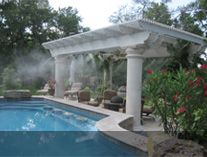 Misting Systems Outdoor Cooling Mist System Houston Texas Us Patio Steel Pergola