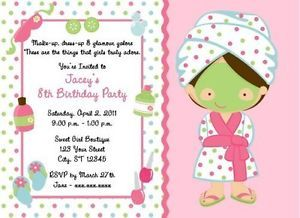 Spa party themes personalized birthday invitations ebay belleza spa party themes personalized birthday invitations ebay filmwisefo