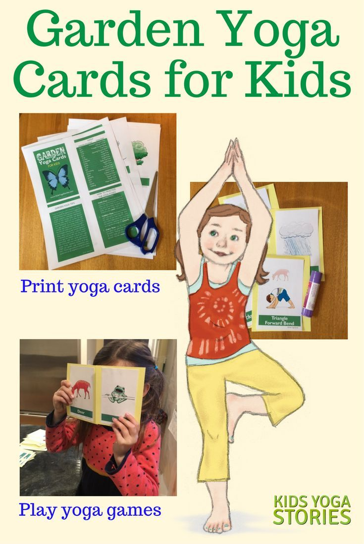 Garden Yoga Cards For Kids   Learn About The Garden Through Easy Yoga Poses  For Kids