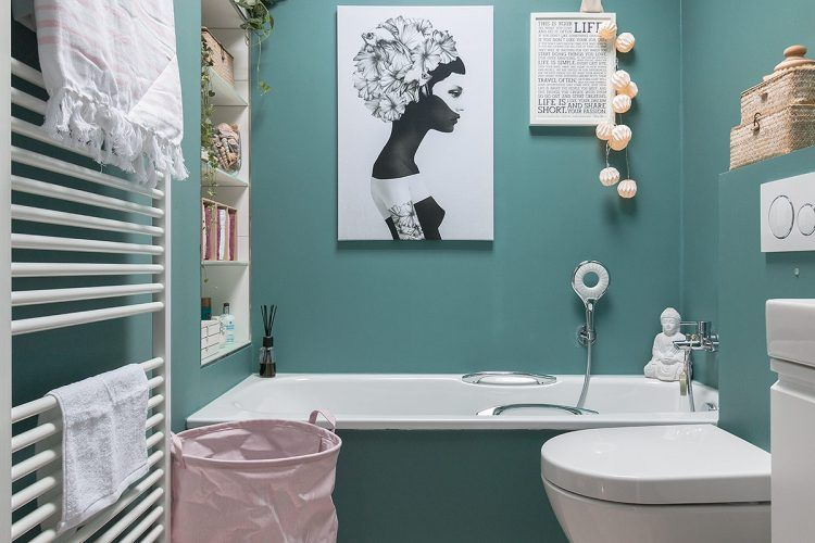 Fruhlingshafte Grusse Im Winter Badezimmer Deko Bad Badezimmer Deko Turkis
