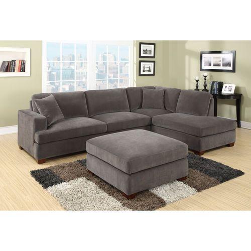 Elijah fabric sectional costco 1100 living room for 5 piece modular sectional sofa costco