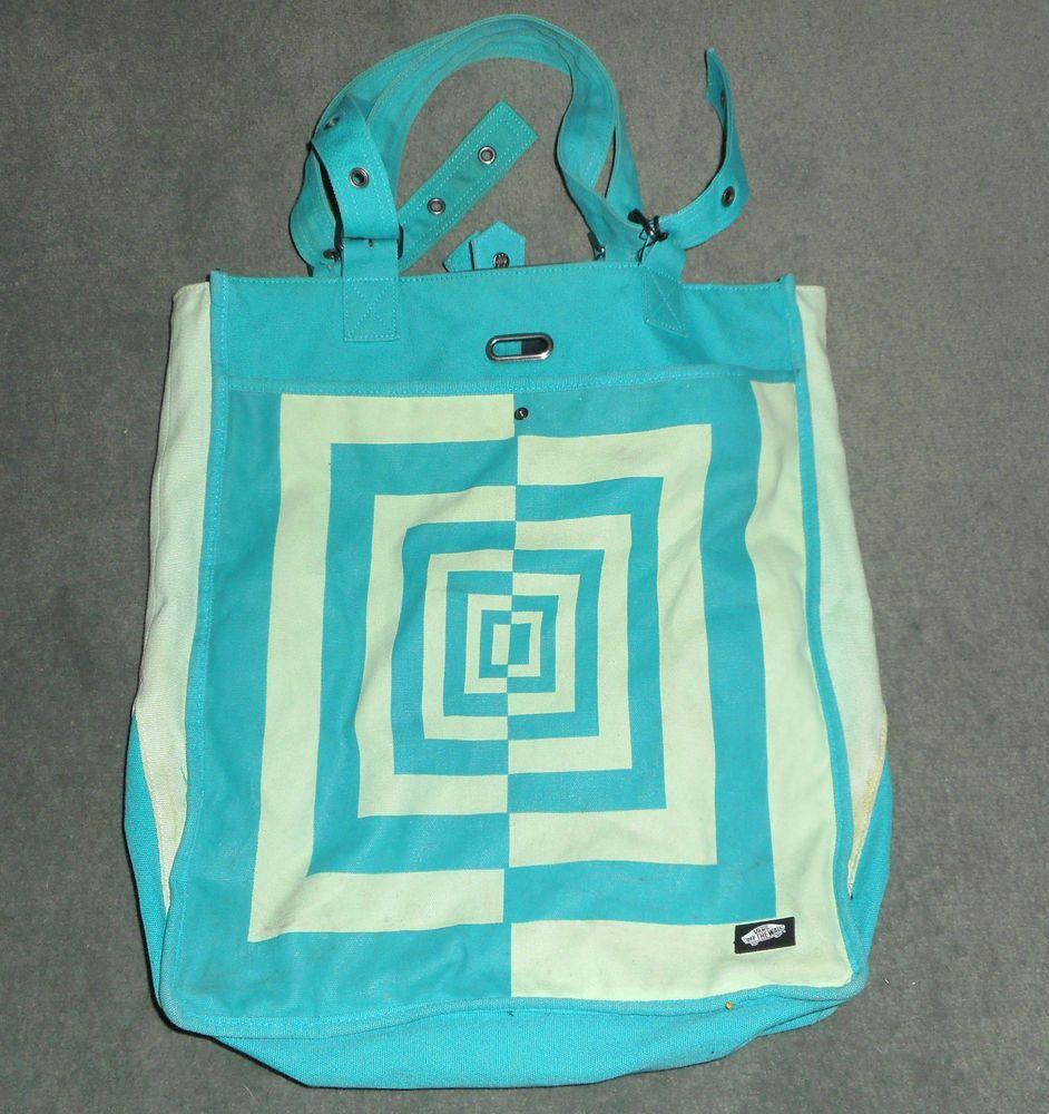 49784a5b1f Womens Emerald   Green VANS OFF THE WALL Fashion Canvas Tote Bag Purse