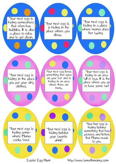 Easter Scavenger Hunt Like Because There Are Blank Eggs To Print Make Your Own