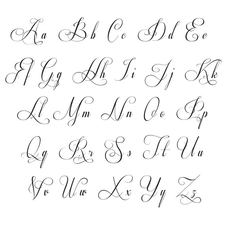 Monogram font journal hand lettering alphabet font easy for Flowy tattoo fonts