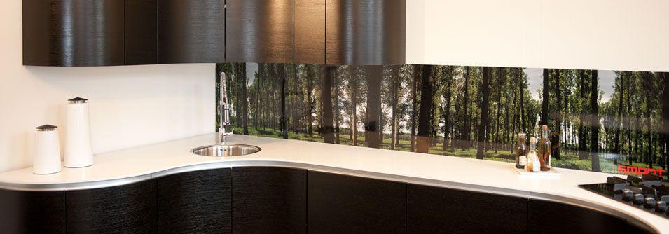 See our splashback designs in a finished kitchen In da Woods at - nischenplatten für küchen