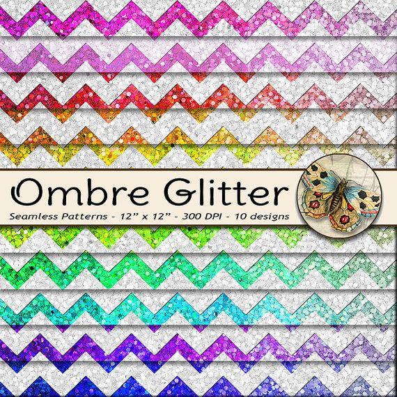 Ombre Digital Paper Ombre Glitter Paper Digital Glitter Etsy Digital Paper Glitter Paper Etsy Printables