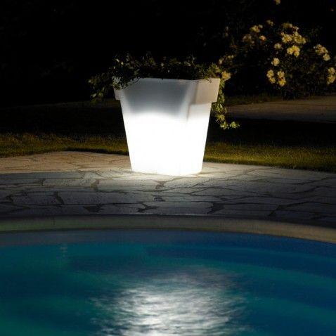 Pot lumineux jardin Vaso Light 55 cm #idée #cadeau #original #maman ...