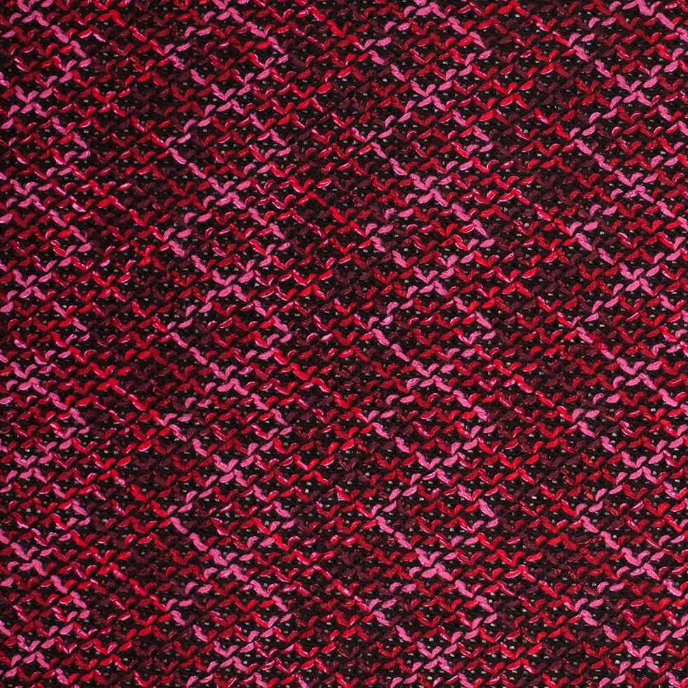Pink/Red/Black Geometric Novelty Knit Fabric by the Yard | Mood Fabrics