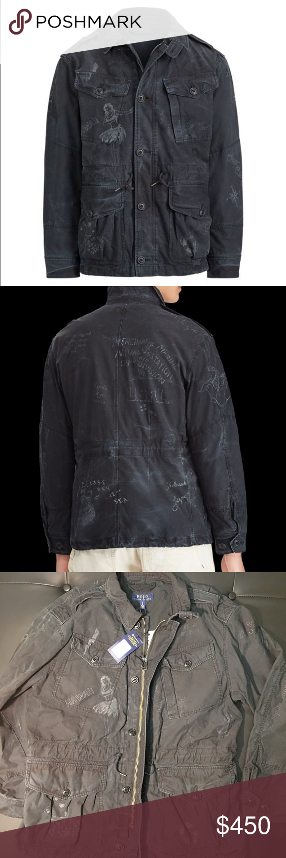 Polo Ralph Lauren Print cotton utility jacket Polo ralph