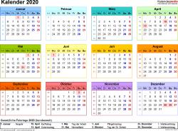 15 Kostenlose Kalender Vorlagen Fur 2021 11