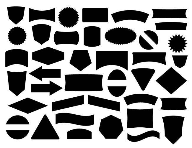 free label and badge vector shapes free vector site download