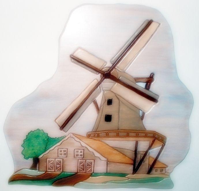 Wood Sculptured, Windmill, Wall Decor | Windmill wall ...