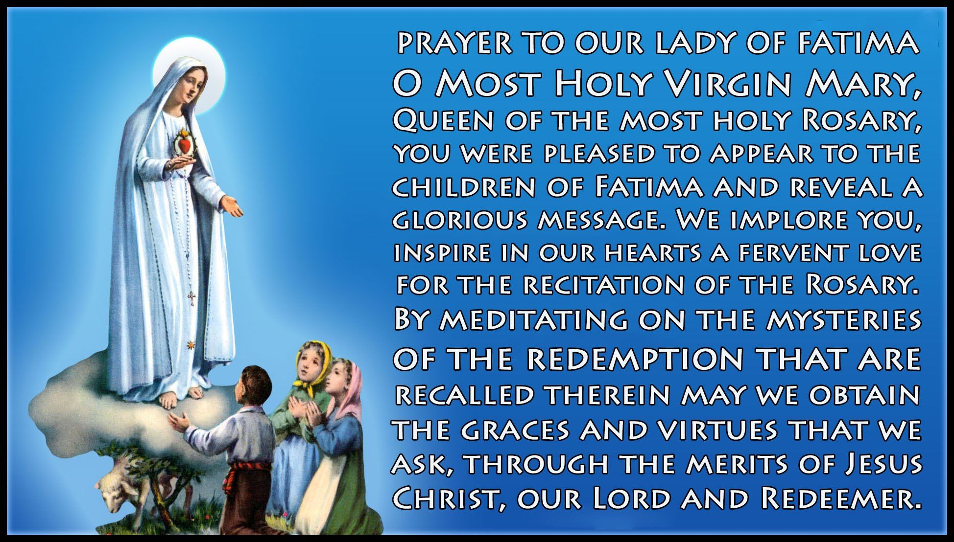 Pin By Evie Day On Our Lady Of Fatima Lady Of Fatima Prayers Holy Rosary