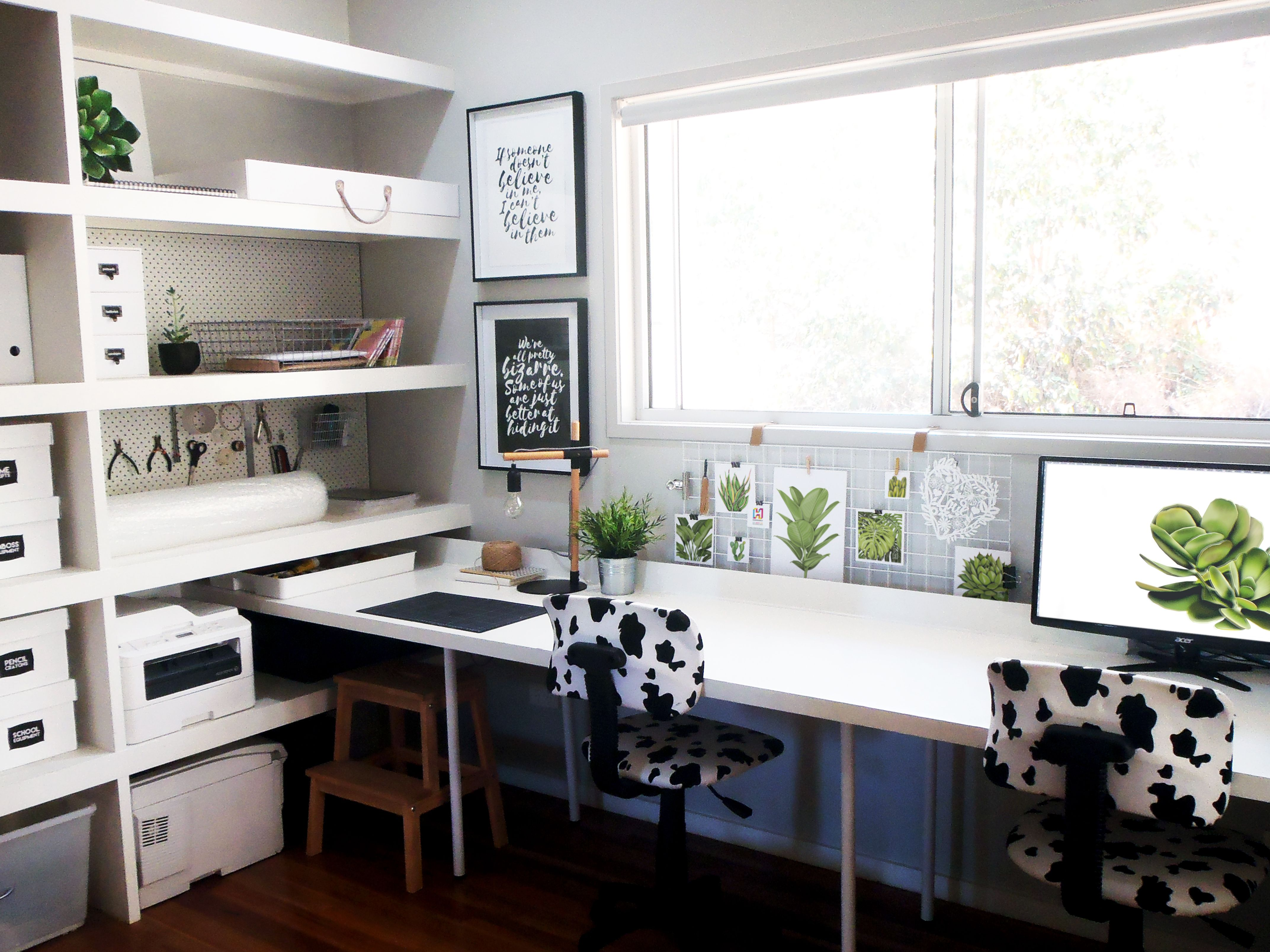 The Sunshine Coast home workspace of graphic designer and papercut ...