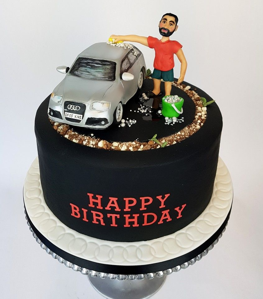 Marvelous A Cake For A Man Who Loves His Car And Spends Many A Weekend Hour Personalised Birthday Cards Paralily Jamesorg