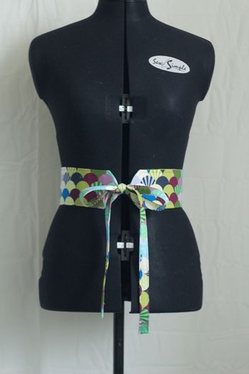 Fat Quarter Project Obi Style Belt