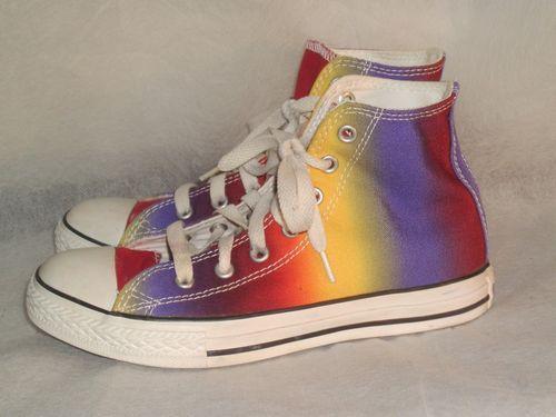 Star Chuck Hi All Converse Dye Tie Taylor Youth Colored Tops Rainbow H76qqaxw