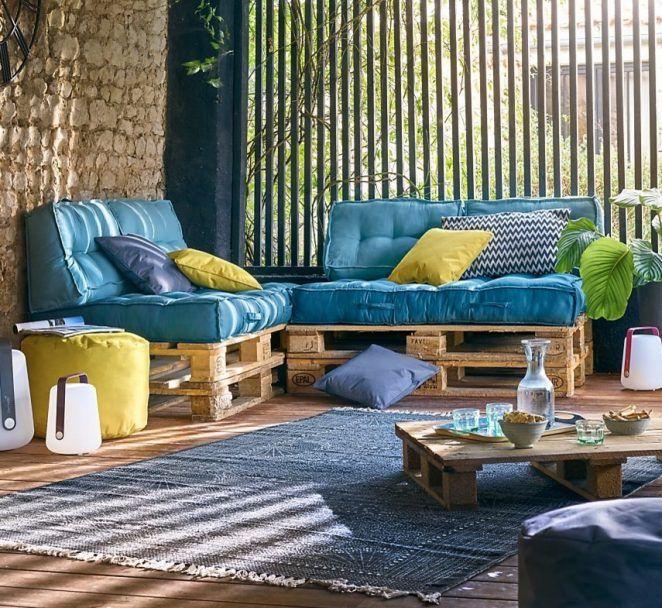 Des coussins et des matelas pour transformer des palettes Coussin pour salon de jardin palette