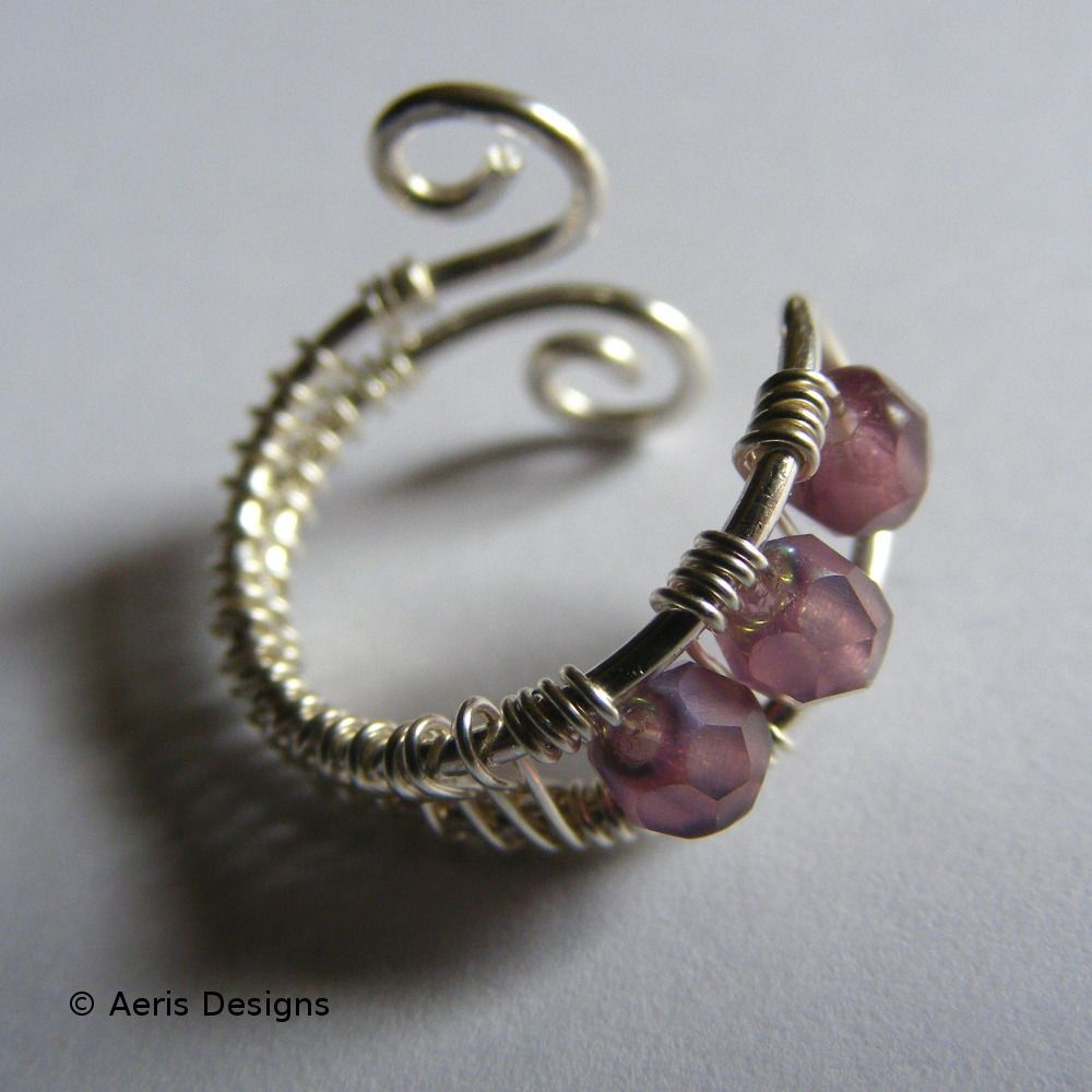 wire wrapped jewelry   Beaded Toe Ring   JewelryLessons.com   ALL ...