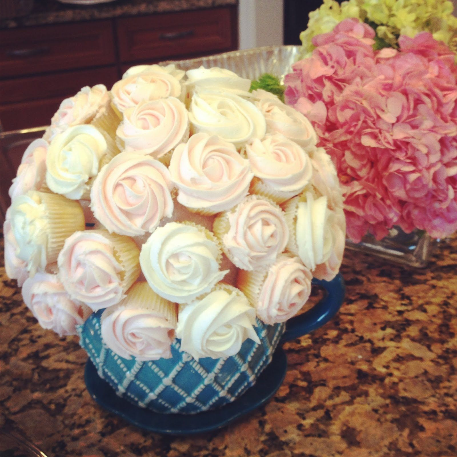 How to make a cupcake flower boquet cake an desserts pinterest in this video anh creates cupcake flower bouquets for a special party she creates 3 bouquets hydrangea roses and chrysanthemums izmirmasajfo Image collections