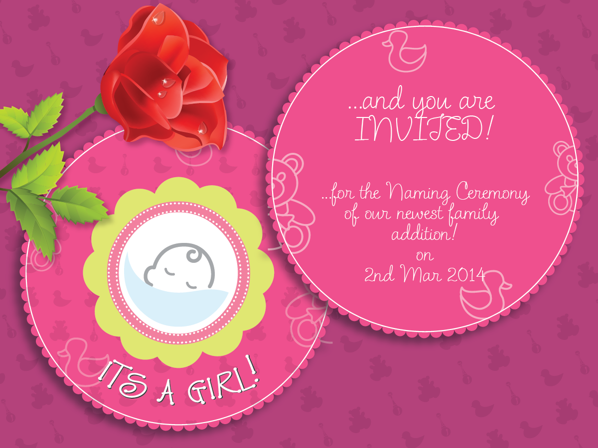 Naming Ceremony Invites By Dinesh Khairate  The Right Invite