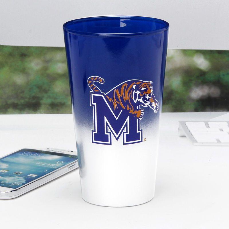 Memphis Tigers 17oz. Color Chrome Mixing Glass Memphis