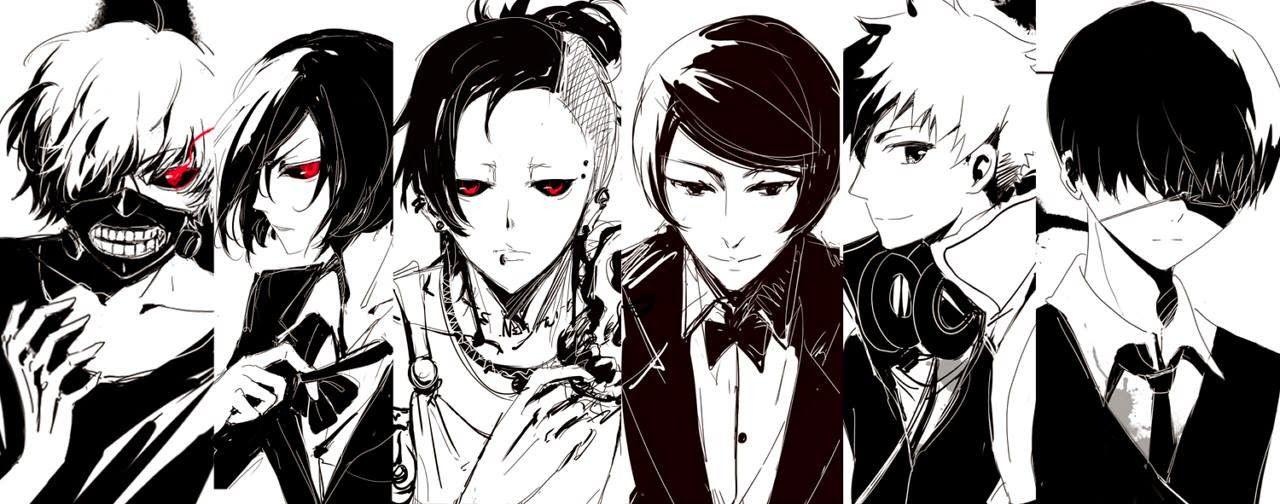 Character Lineup Anime Manga Tokyo Ghoul