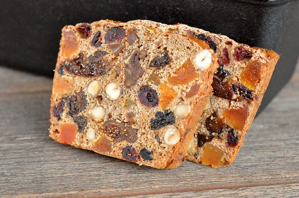 Photo of Christmas fruit bread with hazelnuts
