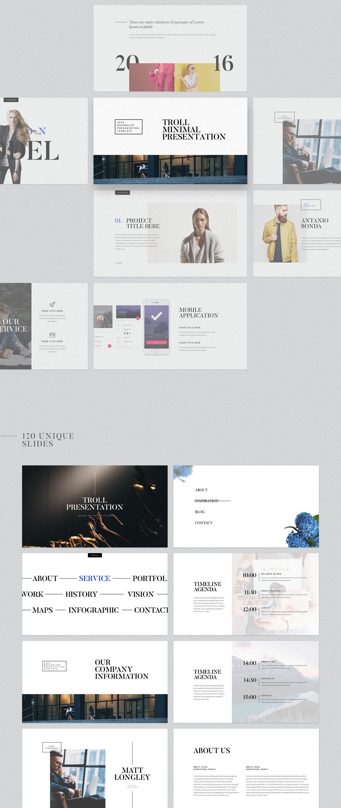 Troll - Presentation Template on Behance   Graphic design ...