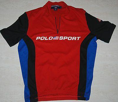 Ralph Lauren Blue Polo Logo Breathable Dark Red Short Sleeved