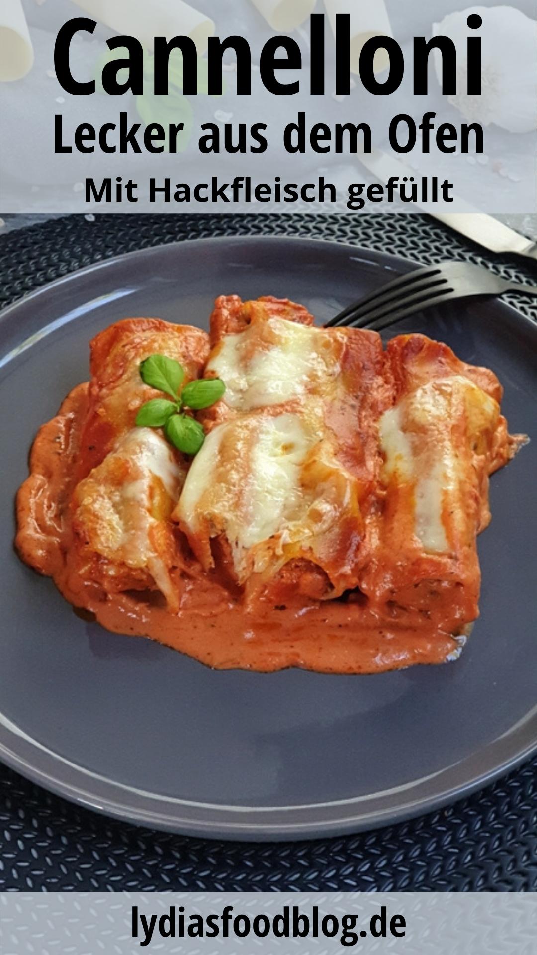 Cannelloni mit Hackfleisch und Mozzarella aus dem Ofen, Rezept  #gesundesessen