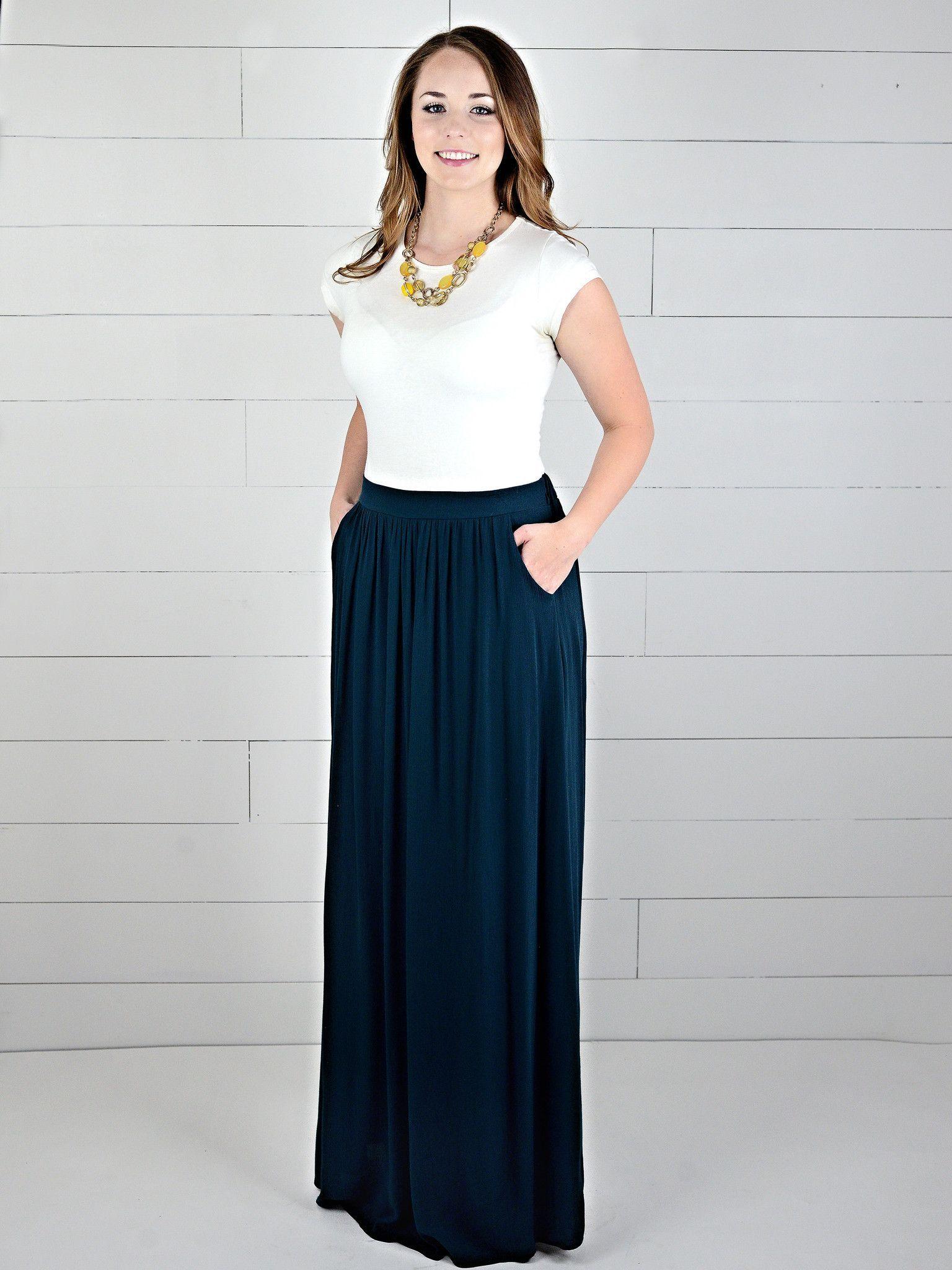 High Waist Pocket Pleat Skirt   Teal, High waist and Skirts