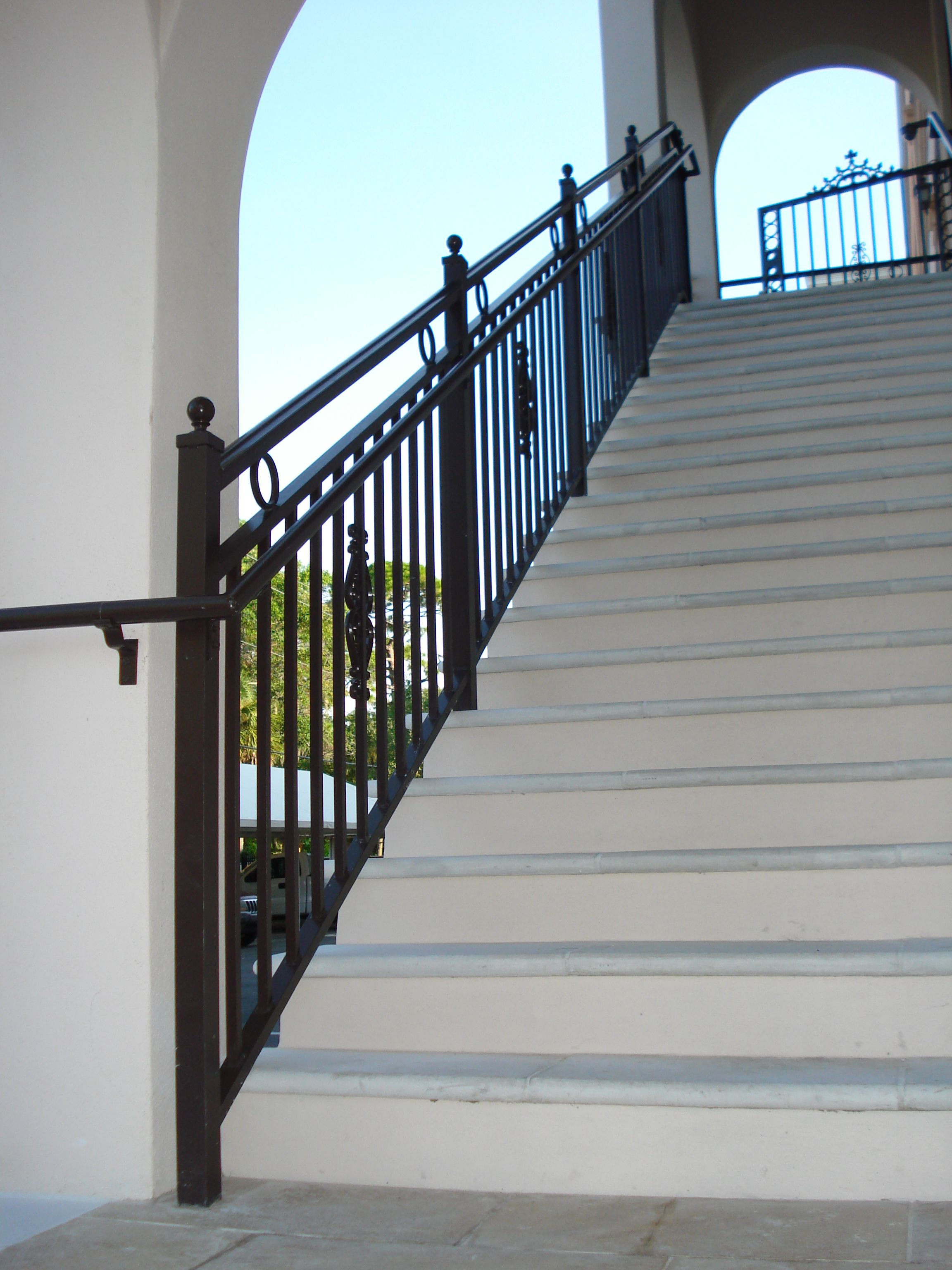 Welded Aluminum Stair Railing Fabricated And Installed By Mulletu0027s Aluminum