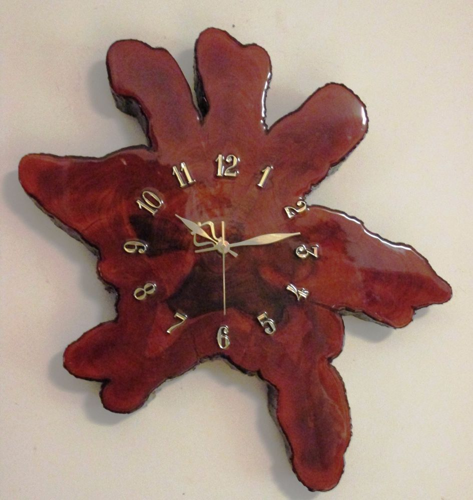 Vintage Retro Cypress Tree Slab Wall Clock Hand Made Slice Of Wood Rustic Wall Clocks Tree Slab Wooden Clock