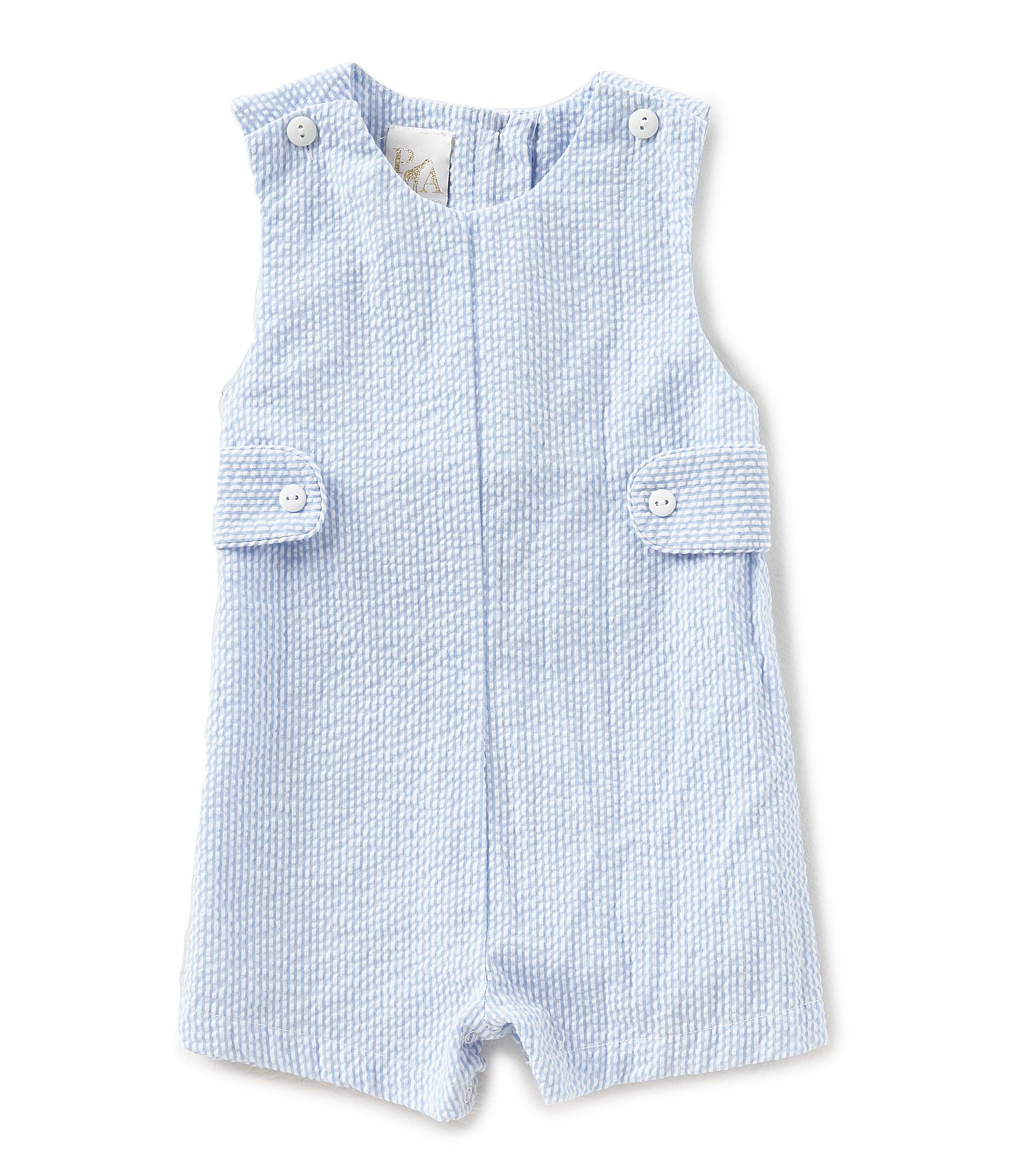 cb38d84672c4 Shop for Petit Ami Baby Boys 3-24 Months Seersucker Shortall at  Dillards.com. Visit Dillards.com to find clothing