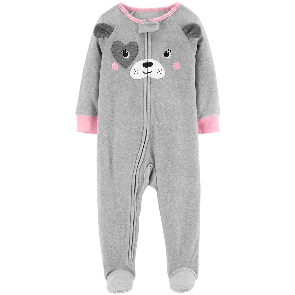 a9f30507d Baby Girl Carter s Puppy Dog Microfleece Footed Pajamas