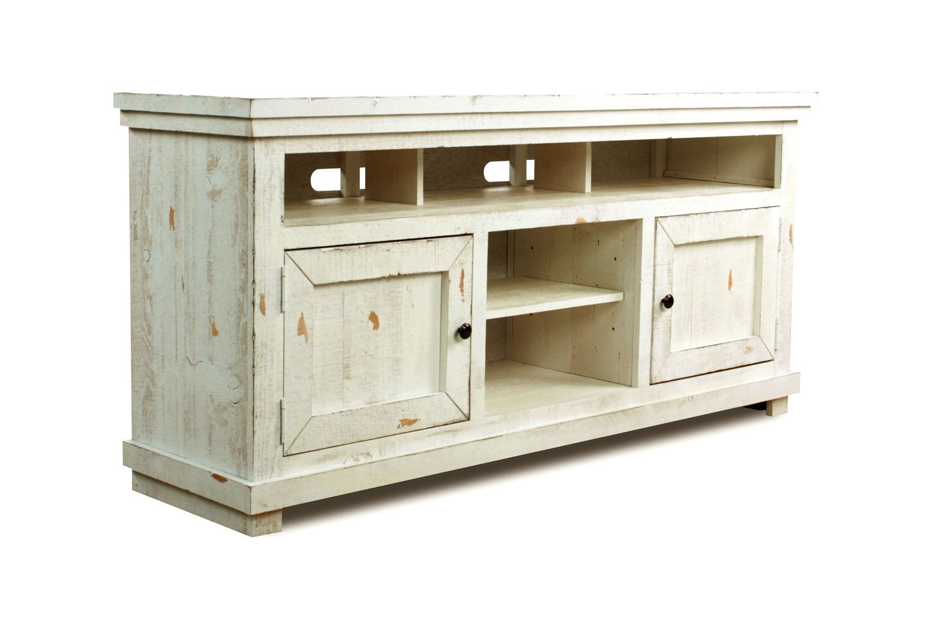 Sinclair White 64 Inch Tv Stand Rustic Tv Console Tv Console