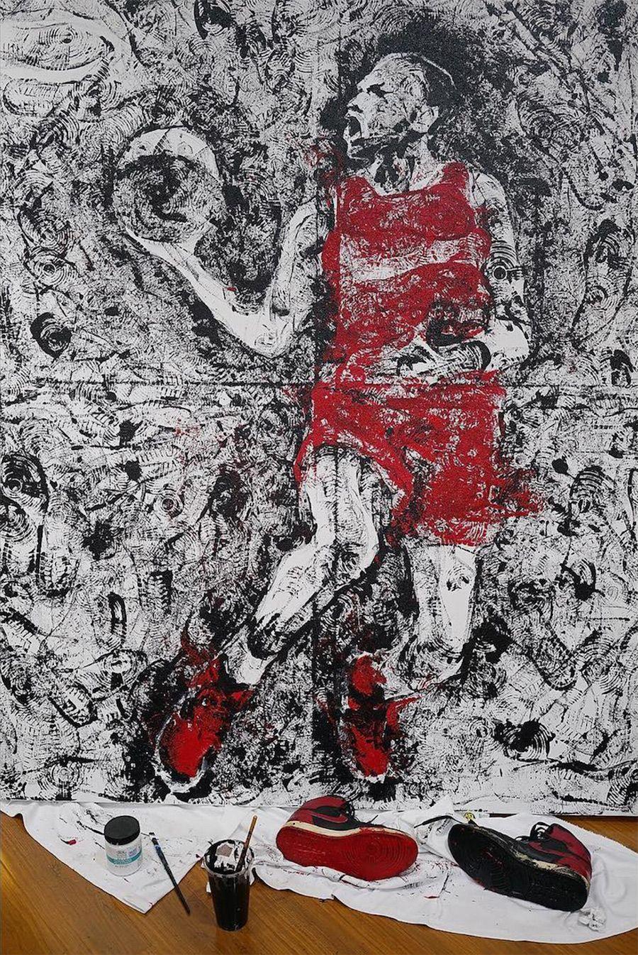 9bb21da0f3b6 Air Jordan 1 Banned Paintbrush Michael Jordan