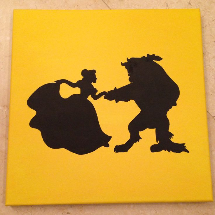 Beauty And The Beast Silhouette Google Search Crafts
