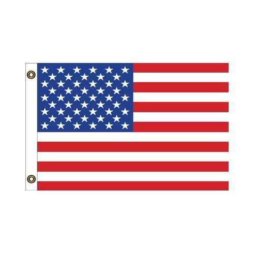 "US 12in x 18in Sewn Nylon with grommets by US Flag Store. $11.95. High-Quality Sewn Nylon Material, Sturdy Polyester Heading, and Brass Grommets. Low Cost Shipping Available!. Embroidered Stars and Lock Stitched Sewn Stripes. 12"" x 18"" Nautical Flag. US Made. The US 12in x 18in Sewn Nylon with grommets is constructed with a high quality, fade resistant nylon manufactured for outdoor flag use. This US flag is embroidered with glossy stars and lock stitched sewn stripes. It i..."