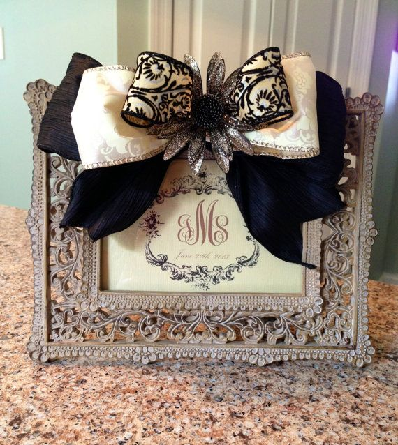 Custom Monogram Picture Frame With Boutique By Thegatheringplaceco