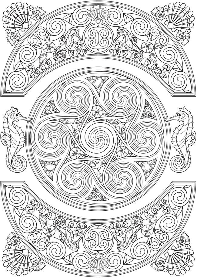 free printable coloring page by Dover Publishing | Coloring Outside ...