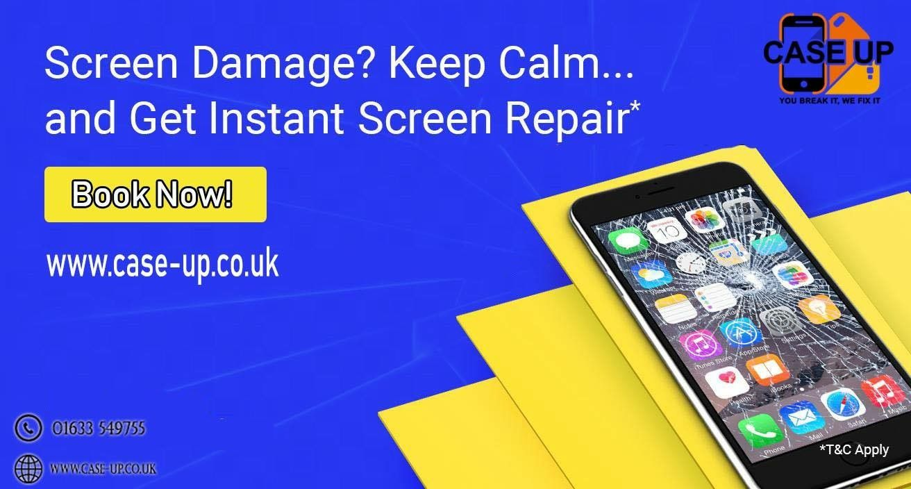 Screen Damaged Keep Calm For Instant Repairs Just Visited Our Website And Book It And We Ll Come Out To You Or You Ca Iphone Screen Repair Screen Repair Phone