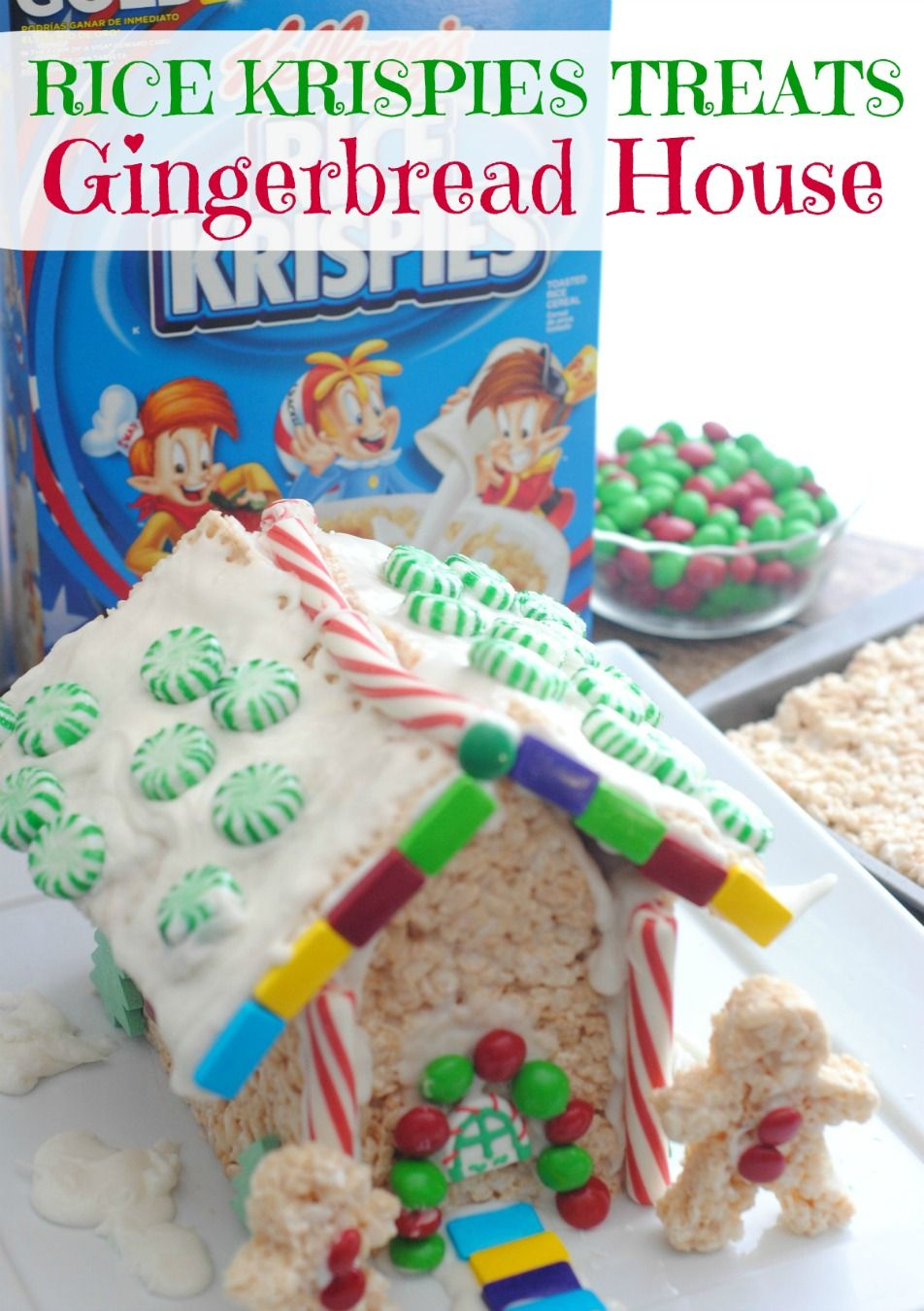 Rice Crispy Treat Christmas.Kellogg S Rice Krispie Treat Gingerbread House