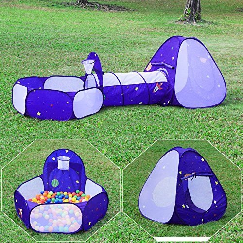 Homfu Kids Play Tent with Tunnel Ocean Ball Pit Pool With Basket Hoop For Toddler Boys  sc 1 st  Pinterest & Homfu Kids Play Tent with Tunnel Ocean Ball Pit Pool With Basket ...