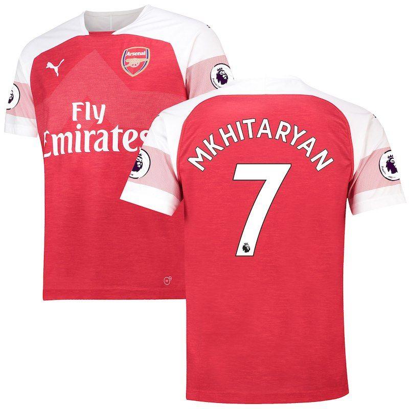 size 40 c21f5 18d01 Henrikh Mkhitaryan Arsenal Puma 2018/19 Home Replica Player ...